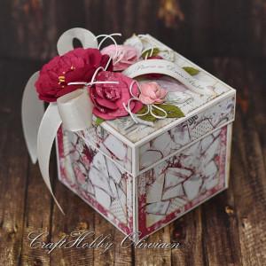 Różany ślubny exploding box