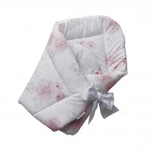rożek niemowlęcy w kwiaty Dalie