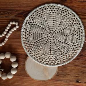 Rozeta mandala serweta na obręczy 20cm