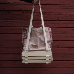 Różowa torba w kwiaty Suotko_Studio