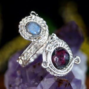 Rubin, Srebrny pierścionek z rubinem regulowany