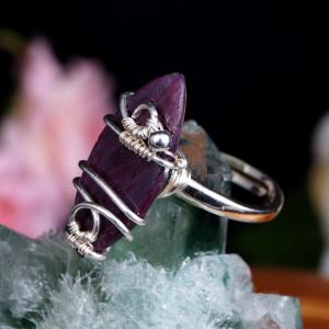 Rubin, Srebrny pierścionek z rubinem, regulowany