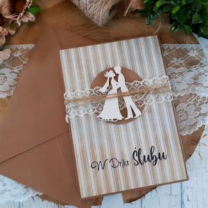 Rustykalna kartka na ślub 10