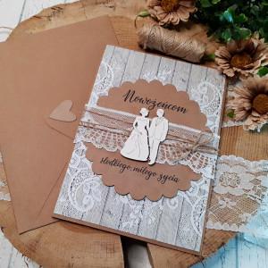 Rustykalna kartka na ślub 13