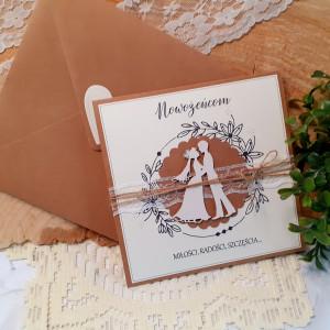 Rustykalna kartka na ślub 16