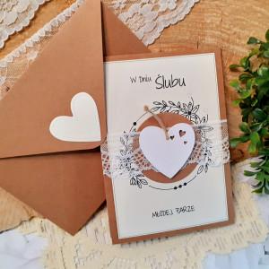 Rustykalna kartka na ślub 18