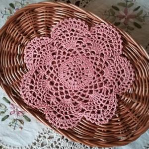 Rustykalna serwetka łososiowy róż
