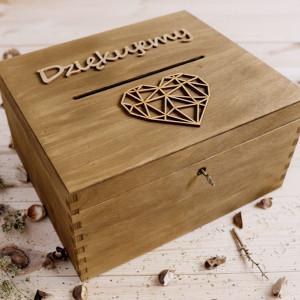 Rustykalne pudełko na koperty
