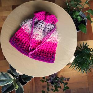 Sakiewka kosmetyczka Różowa Neonowa