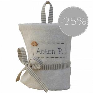 SALE 25% biały ręcznik z imieniem dla chłopca