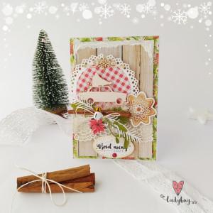 Samochód z choinką - kartka świąteczna - Tradycja