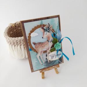 Sarenka- kartka imieninowa, urodzinowa
