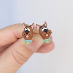 Scooby doo - kolczyki wkrętki