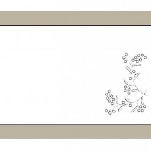 Serweta lniana z haftem angielskim i bordiurą
