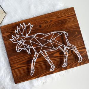 Skandynawski łoś, jeleń, renifer geometryczny