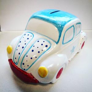 Skarbonka  VW Beetle - Light Blue