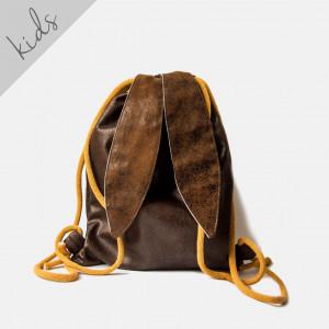 Skórzany plecak króliczek