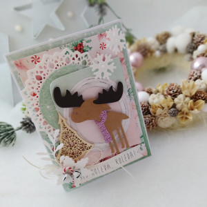 Słodki Łoś - kartka świąteczna