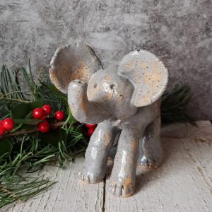 Słoń nr 2, ceramiczny słonik, duża figurka
