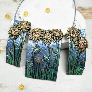 Słoneczniki - komplet biżuterii