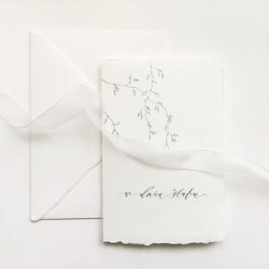 Ślubna galazka papier czerpany