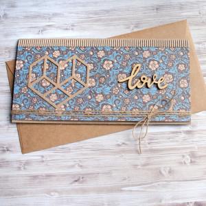 ślubna kartka kopertówka - vintage love