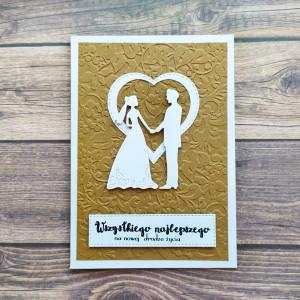 Ślubna kartka Para Młoda