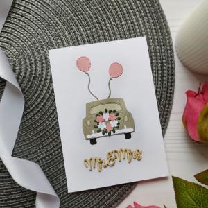 ŚLUBNA KARTKA Z KOPERTĄ MR&MRS