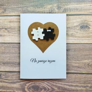 Ślubna kartka z kopertą Na zawsze razem