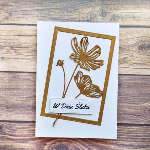 Ślubna kartka z kwiatami