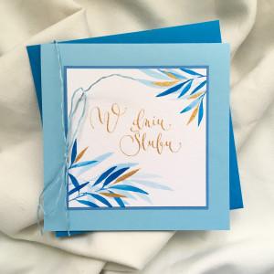 Ślubna liscie modra