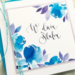 Ślubna niebieskie peonie