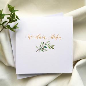 ślubna z gałązką zielona