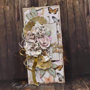 Ślubny bukiet z motylami