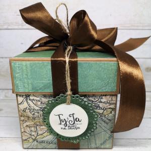 Ślubny exploding box dla podróżników 2