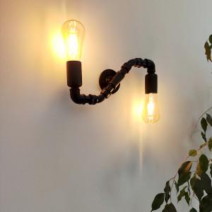 Snake - nowoczesna industrialna lampa ścienna