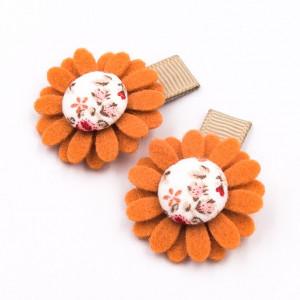 Spineczki do włosów kwiatki FLORENCE PINK ginger