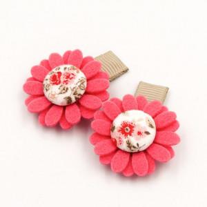 Spineczki do włosów kwiatuszki FLORENCE PINK coral