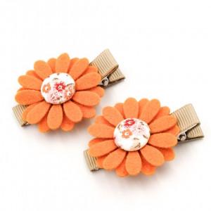 Spinki do włosów kwiatuszki FLORENCE PINK ginger