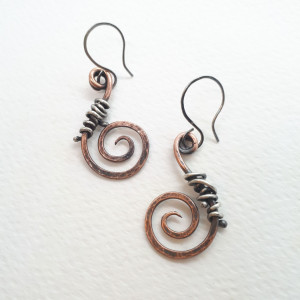 """spiralis vitae' kolczyki"