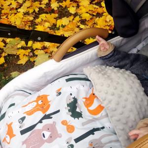 Śpiworek do wózka spacerówki Liski