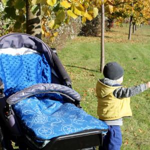 Śpiworek do wózka w kotwice
