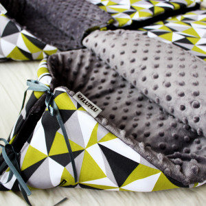 Śpiworek do wózka zielona mozaika na spacery