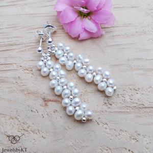 Splecione perły - kolczyki