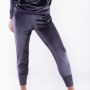 Spodnie aksamitne szare-bridget