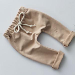 Spodnie baggy kwiaty beż nude  56-80