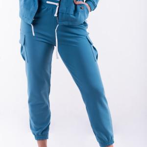 Spodnie bojówki niebieskie total stick