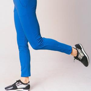 Spodnie damskie dresowe chabrowe