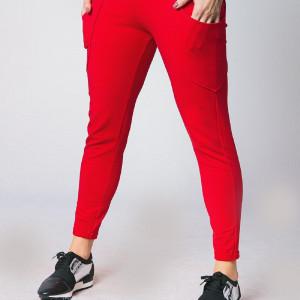 Spodnie damskie dresowe czerwone