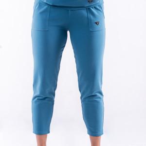 Spodnie dresowe niebieskie z nadrukiem 3 foru